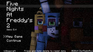 Five Nights at Freddy 2 Minecraft Style Title Scre by RubinTheThird