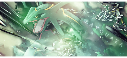 P G-A - Chapitre 39 - 7ème Badge - L'attaquant foudroyant! Pokemon_rayquaza_signature_by_holophrasic-d4fty9b