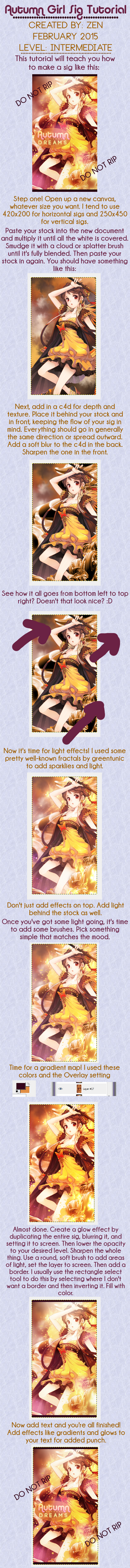 Autumn Anime Girl Vertical Sig Tutorial by Holophrasic