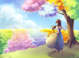 HB: Four Seasons Field by Zerii-chan