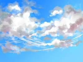 Cloud practice by Zerii-chan