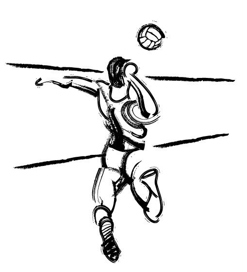 volleyball spike clipart - photo #41