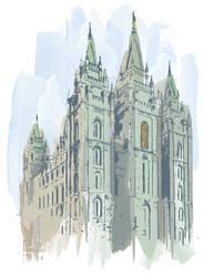 Salt Lake Temple by montgomeryq