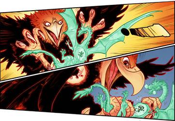 Oswald fighting eagle