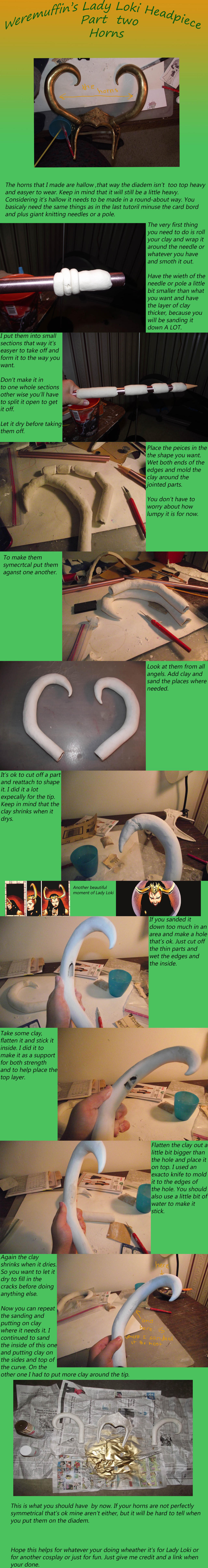 Lady Loki tutorial headpiece part two: The Horns by wearmuffin