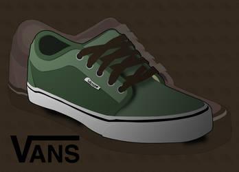 Vector Vans Shoe