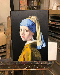 Girl with a Pearl Earring by Javiyoshi