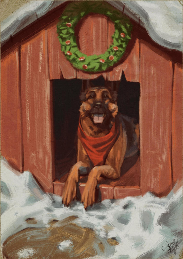 Seasons greetings from Dogmeat by Cyberworm360