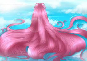 COMMISSION - Hair lying by WhiteNamikaze