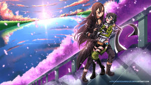 COMMISSION - Shinon and Kirito by WhiteNamikaze