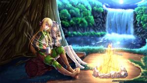 COMMISSION - Yusara and Althina by WhiteNamikaze