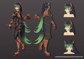 COMMISSION - Yui Fujisaki Character Sheet by WhiteNamikaze