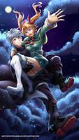 COMMISSION - Aki Nitta and Ryota Aizawa by WhiteNamikaze