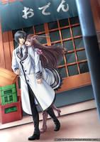 COMMISSION - Takashi and Asuka by WhiteNamikaze