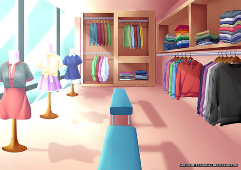 COMMISSION - Clothes Shop Interior
