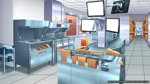 COMMISSION - Fast Food Kitchen Area