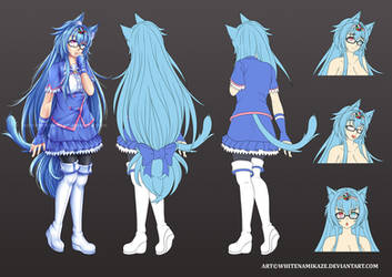 COMMISSION - Kanzashi Dragonia Character Sheet
