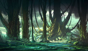 Tangle-thorn Forest by DominiquevVelsen