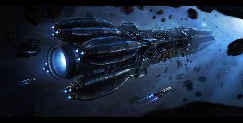 Starships by DominiquevVelsen