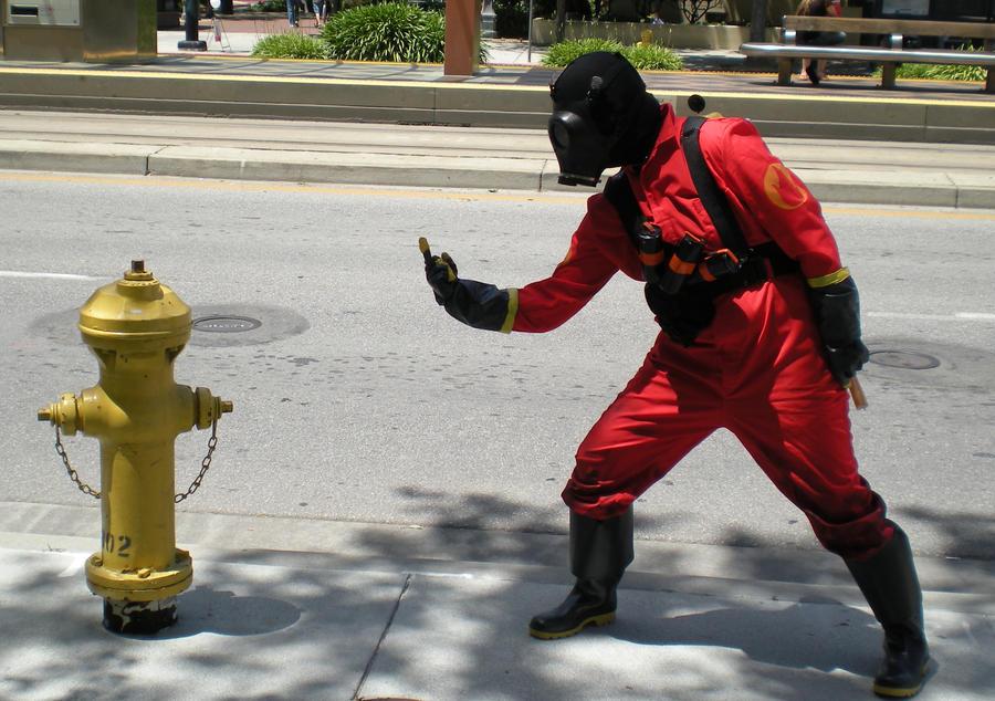 Pyro Tf2 Cosplay Pyro vs. Fire Hydrant:...