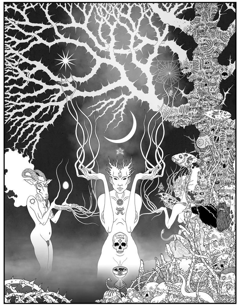 Sin Eater Tree Moon by Apokaliptikon-inc