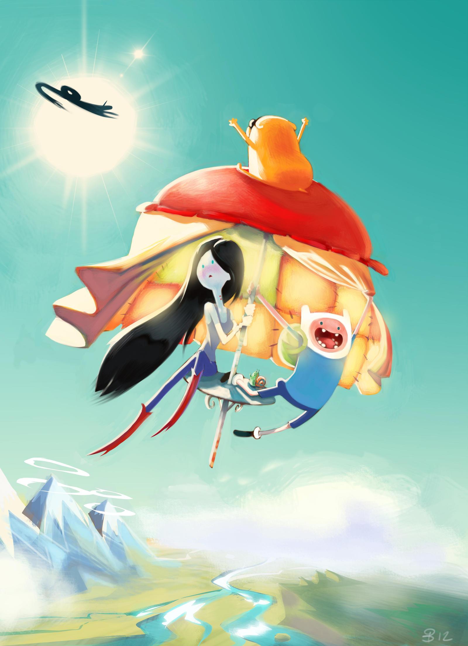 Adventure time - Marceline and Finn