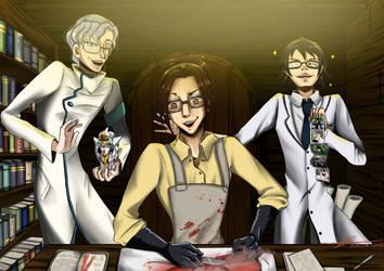 Trois Binoclard ~Hanji, Lloyd, Shinra CROSSOVER