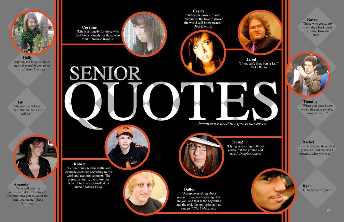 Senior Yearbook Quotes Yearbook Senior Quotessapphiremisty On Deviantart