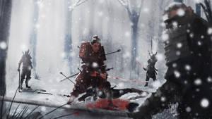 Samurai in Snow by geeshin