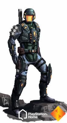 PS Home: Rhino Combat Suit