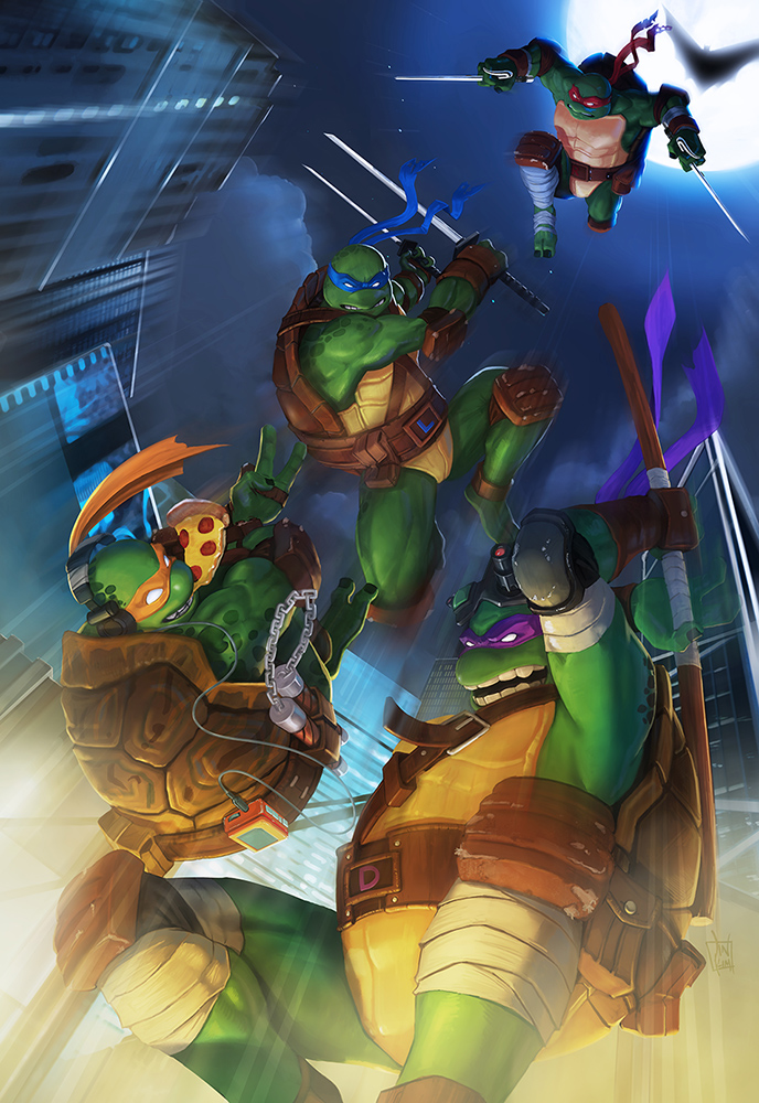 tmnt  by geeshin on deviantart