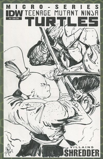 Usagi Yojimbo VS Shredder by geeshin