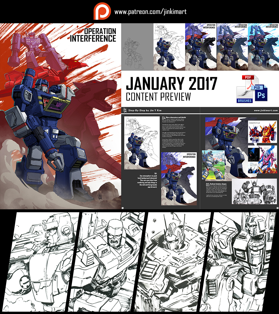 Patreon January Content Preview! by geeshin