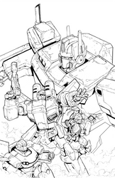 IDW Optimus Prime #6 - Line Art