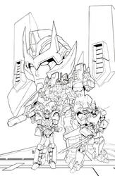 IDW Transformers Lost Light #5 Line Art