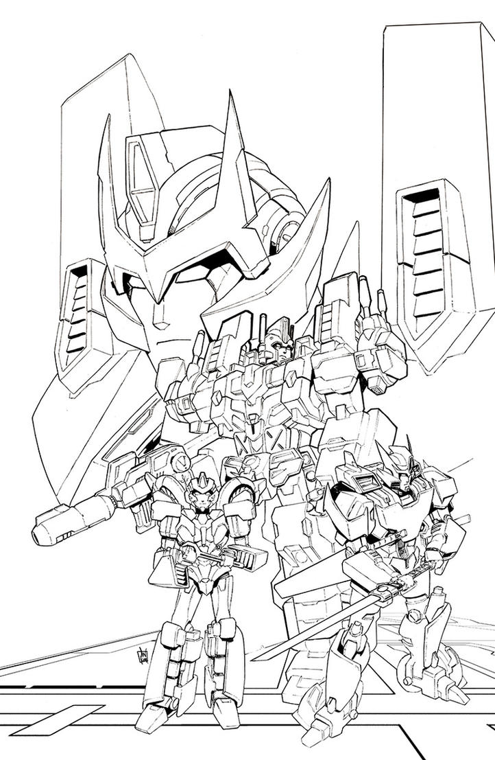 D Line Drawings Not Working : Idw transformers lost light line art by geeshin on