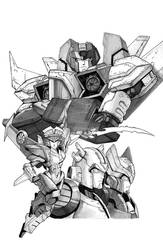 IDW Transformers Till All Are One #9 line art