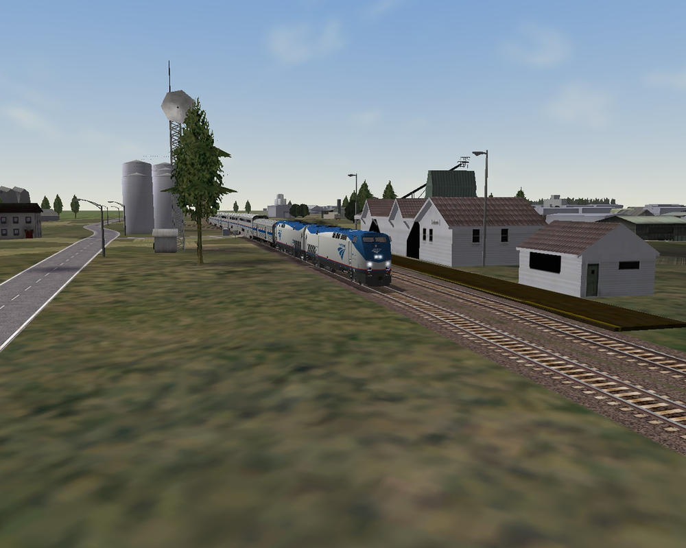 MSTS - Amtrak Empire Builder Passing Cut Bank by TheSniperKid