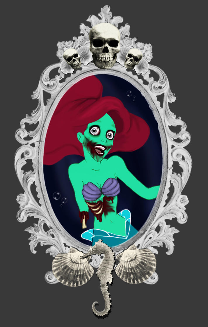 The Little Zombie Mermaid by DirtyLittleDog