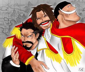 One Piece Legends, Gol D. Roger, Whitebeard, Garp by BabiIonya