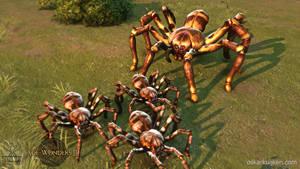 Age of Wonders 3 Hunter Spider Ingame by OskarKuijken