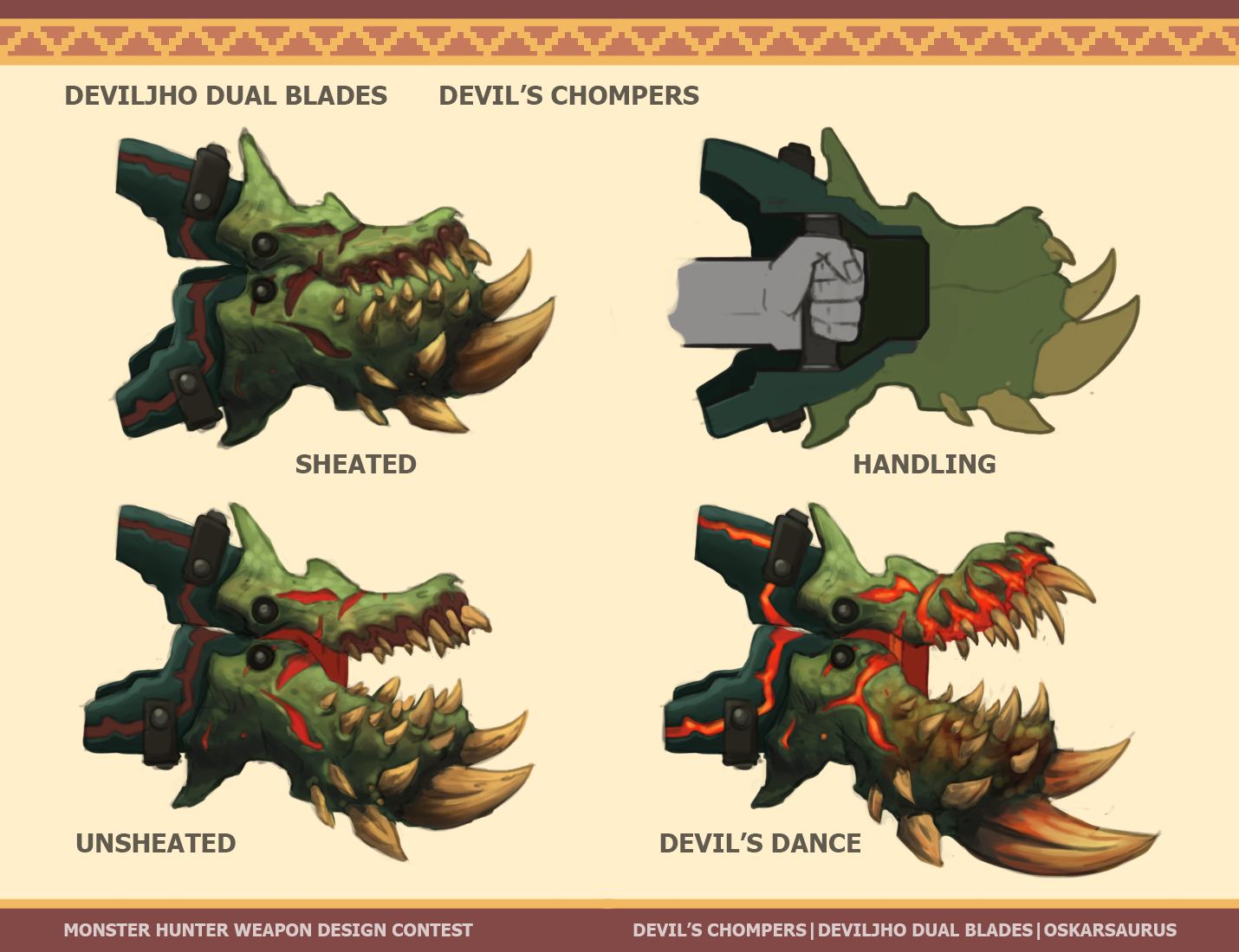 Monster hunter devil 39 s chompers by oskarkuijken on for Decorations monster hunter world