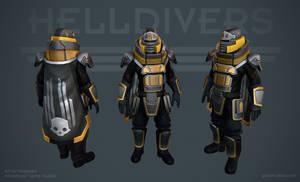 Helldivers - Defender Armor by OskarKuijken