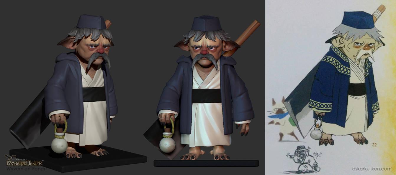 Sushi Chef Sculpt - Monster Hunter by OskarKuijken