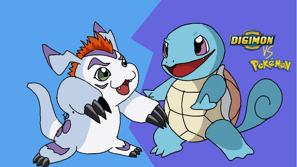 Squirtle vs gomamon mugen