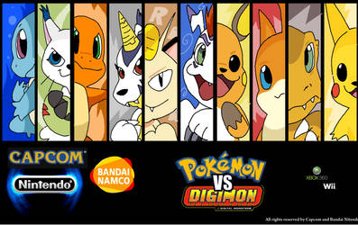 all pokemon vs digimon game 2 by arineu