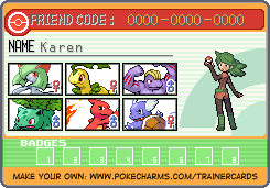 Pokemon Warrior Card: Karen by OmegaZXA