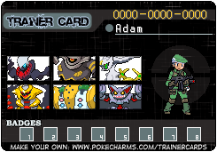 Pokemon Warrior Card: Adam by OmegaZXA