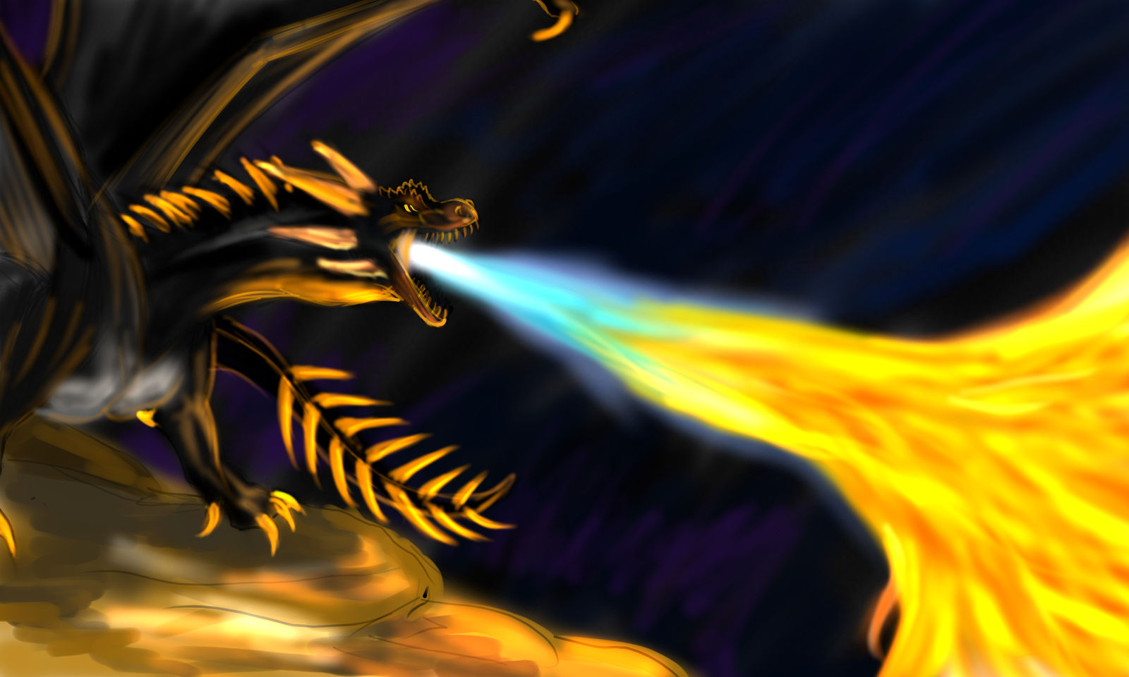 Hungarian Horntail by dragonofdivinewind on DeviantArt