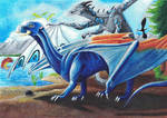 Dragon Formation by dragonofdivinewind